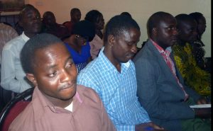 A cross-section of the audience at the reading