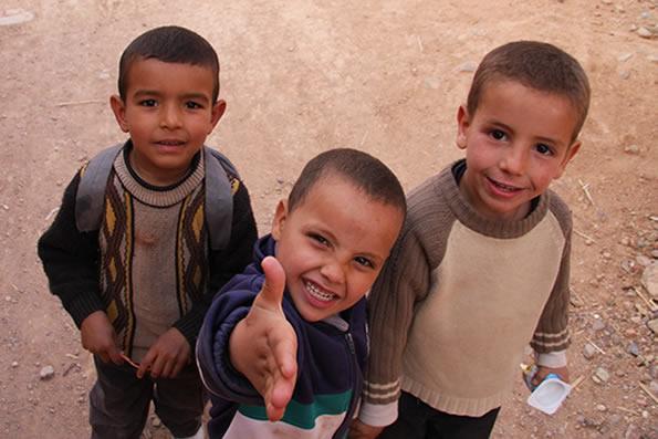Moroccan Children, by Habie Schwarz